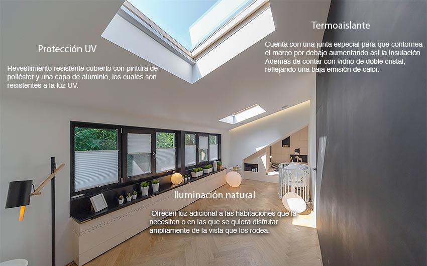 Tragaluces tragaluces ventanas en el techo reformas - Tragaluces para tejados ...